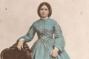 Mary Dore Poor, wife of Leander Poor. The photo is a gift from Martha Littlefield.